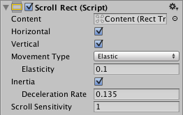 Getting a ScrollRect to work properly in Unity